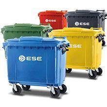 Contenedores plásticos para basura 120 a 1100 litros