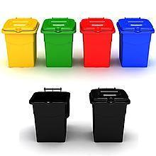 Basureros plasticos con capacidad hasta 100 litros